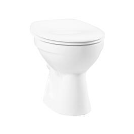 Stand-Tiefspül-WC weiß Abgang waagerecht mit Hygiene-Glasur