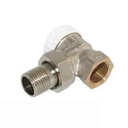 HEIMEIER Thermostatventilunterteil, Standard,Eckform, DN 15, vernickelt, 3711-02.000