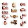Fittings für Kupferrohr zum Pressen in versch. Ausführungen