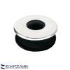 Gummi-Urinalverbinder für Spülrohre von d = 15 - 18 mm mit verchromter Deckrosette