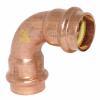 GAS Kupfer Pressfitting Bogen 90° 2 Muffen 15mm