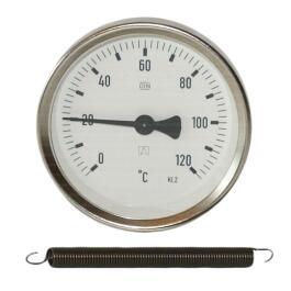 Bimetall-Anlegethermometer 0x120 Grad, Gehäuse d= 63 mm