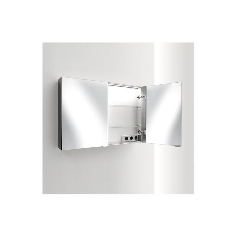 sprinz elegant line spiegelschrank modell 08 4 t rig mit 4 leuchten seitlich und seitlich innen. Black Bedroom Furniture Sets. Home Design Ideas