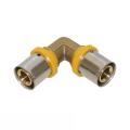 Gas Pressfitting Bogen für Verbundrohr 90° 26mm