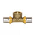Gas Pressfitting T-Stück für Verbundrohr mit...