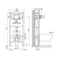 OLI120 Sanitärblock für Wand-WC, 115cm,...