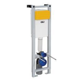OLI Sanitärblock für Wand-WC, nur 30cm breit, 1150mm hoch, Betätigung von vorne