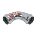 C-Stahl Pressfitting Bogen 90° 2 Muffen verschiedene...