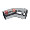 C-Stahl Pressfitting Bogen 45° 1 Muffe verschiedene...