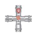 C-Stahl Pressfitting Kreuzstück verschiedene...