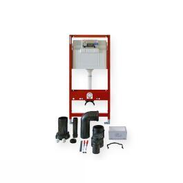 WC-Modul TECEprofil mit TECE-Spülkasten, Betätigung von vorne, Bauhöhe 1120 mm