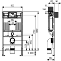 WC-Modul TECEprofil mit TECE-Spülkasten,...