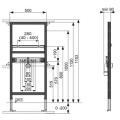 Waschtischmodul TECEprofil, Bauhöhe 1120 mm