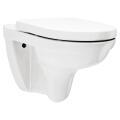 O.novo Combi-Pack Wand-Tiefspül-WC, mit DirectFlush, WC-Sitz mit Quick Release und Absenkautomatik, weiß