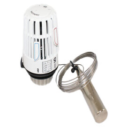 HEIMEIER Thermostat-Kopf K Fernfühler, weiß, 2 m Kapillarrohr 6002-00.500