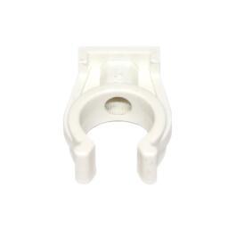 Rohr-Clip einfach 15mm, weiß