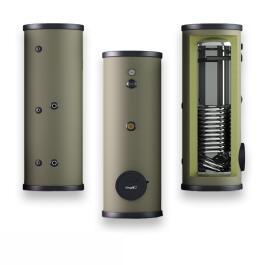 Edelstahl Warmwasserspeicher 120-500L mit 1 Wärmetauscher