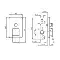 Zucchetti Soft UP-Wannenfüll- und Brausearmatur Sichtteil