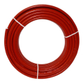 Metallverbundrohr 16mm x 2,0mm, 6mm rot isoliert / 50 Meter