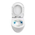 Wand-Tiefspül-WC spülrandlos, inkl. Slim...