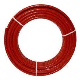 Metallverbundrohr 20mm x 2,0mm, 6mm rot isoliert / 50 Meter