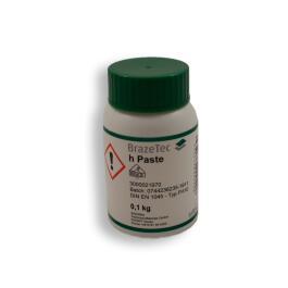 BrazeTec Flußmittelpaste h  0,1 kg Flasche zum Hartlöten von Schwermetallen mit Gütezeichen