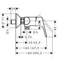 Hansgrohe Focus Brausenmischer AP chrom