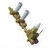 Zucchetti Unterputz-Einbaukörper R99631 zu UP-Thermostatarmatur mit 2 Absperrventilen chrom