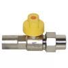 Gasgeräte-Kugelhahn Durchgang verchromt DN15 (R 1/2), mit TAE, HTB, MOP 5