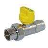 Gasgeräte-Kugelhahn Durchgang verchromt DN 20 (R 3/4), mit TAE, HTB, MOP 5
