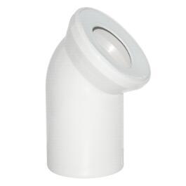 Viega WC Anschlussbogen DN 100 45° Kunststoff weiß