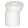 Viega WC Anschlussstutzen DN100 x 155 mm Kunststoff weiß