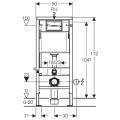 Geberit DuofixBasic Element für Wand-WC, 112 cm, mit...