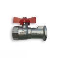 Pumpen-Kugelhahn aus Pressmessing mit Schwerkraftbremse