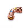 Kupfer Pressfitting Bogen 90° 2 Muffen 12mm