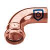 Kupfer Pressfitting Bogen 90° 1 Muffe 18mm