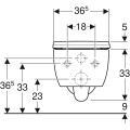 Geberit Tiefspül-WC iCon, 6l, wandhängend spülrandlos weiß, inkl. WC-Sitz Slim mit Absenkautomatik & abnehmbar