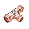 Kupfer Pressfitting T-Stück reduziert 22mm x 18mm x 22mm