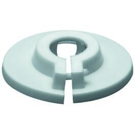 Klemmrosette aus Kunststoff 15mm, weiß
