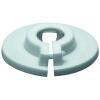 Klemmrosette aus Kunststoff 28mm, weiß
